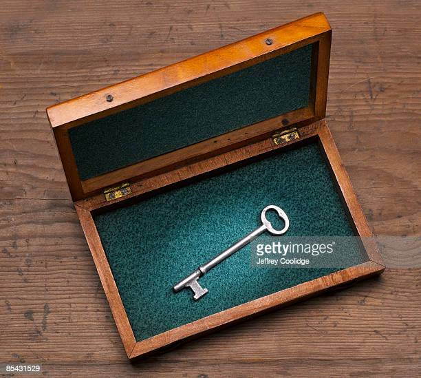 Antique Key in Wooden box