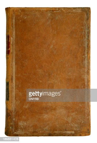 Old Leather Book Cover Images : Antique leather book cover stock photo getty images