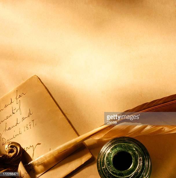 Antique Letter and Pen