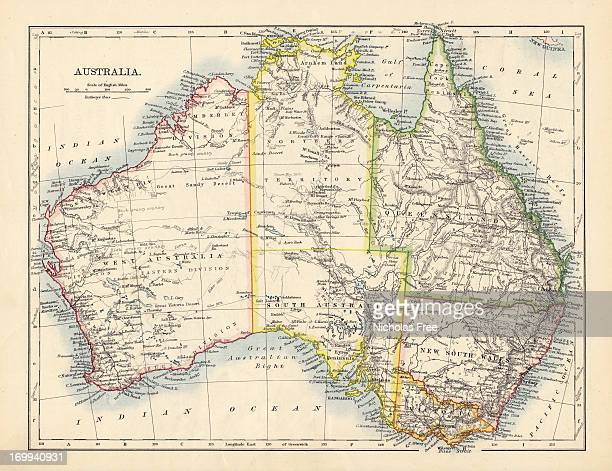 Antique Map of Australia