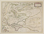 Antique map of part of Russia with Black Sea