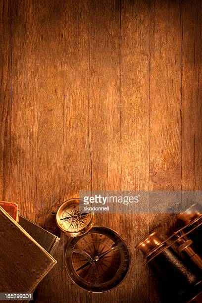 Antique Objects on a Wooden Desk