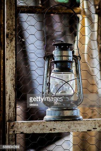 Antique oil lamp : Stock Photo
