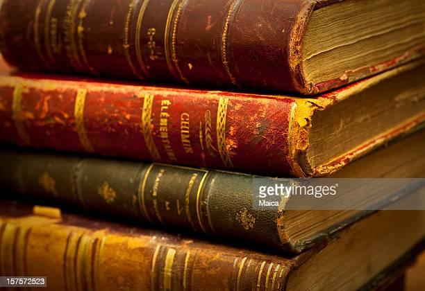 Antike alte Bücher.