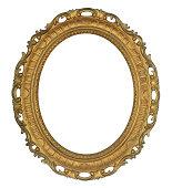 Antique Oval Gold Frame