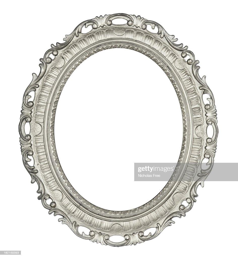 Antique Oval Silver Frame