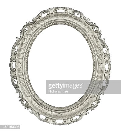 Antiguo marco Oval plata