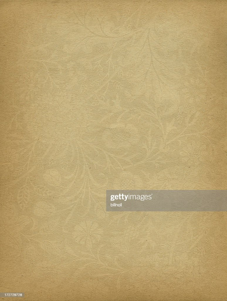 High resolution antique paper with scroll watermark