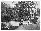 Antique photo: River ferry