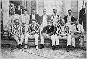 Antique photograph: Cricket in Germantown, Philadelphia Cricket team