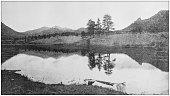 Antique photograph of America's famous landscapes: Mary Lake and Long's Peak, Estes Park