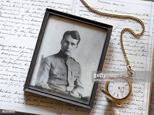 Antique Portrait of Man in Military Uniform