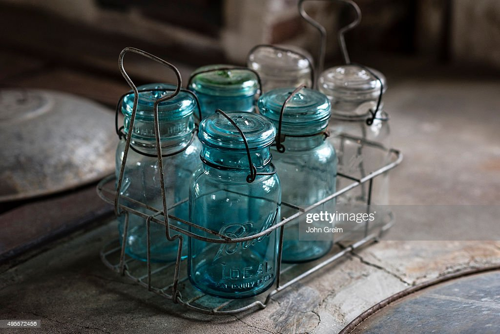 Antique preserve jars at Caterbury Shaker Village