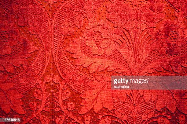 antique mur en velours rouge