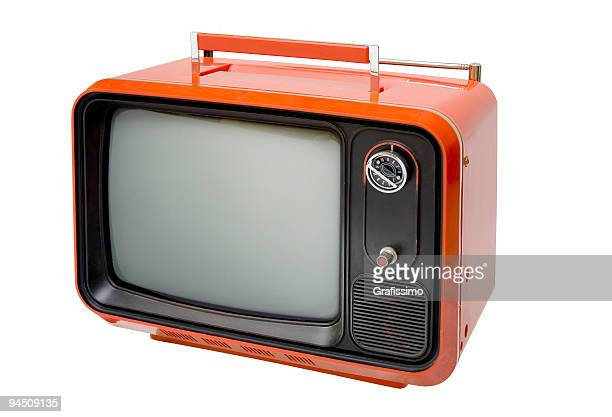 Antique retro orange television