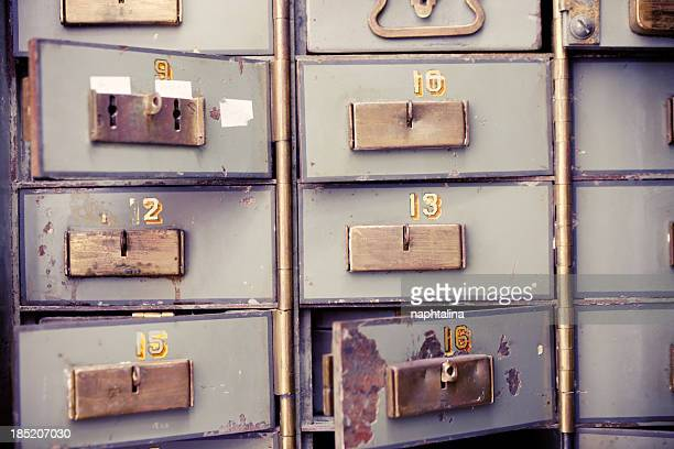Antique safety deposit boxes