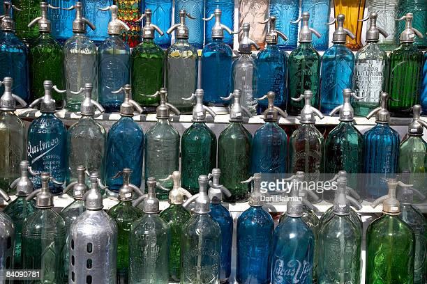 Antique seltzer bottles