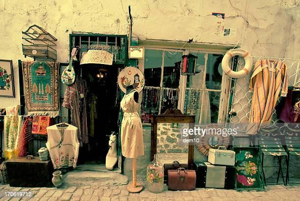 Fenêtre de magasin d'antiquités