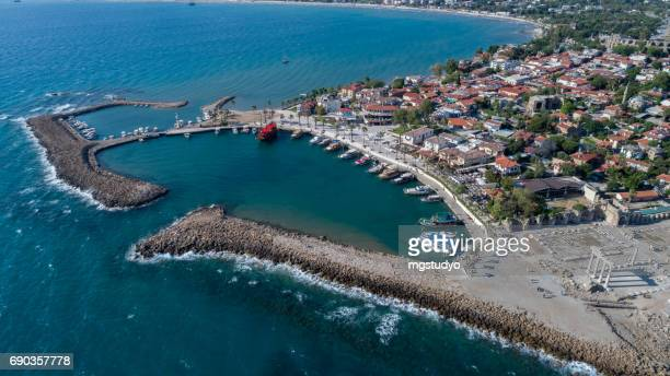 Antike Seite Hafen Luftbild