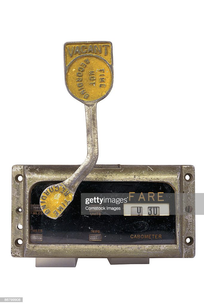 Taxi Meters Purchase : Antique taxi meter stock photo getty images