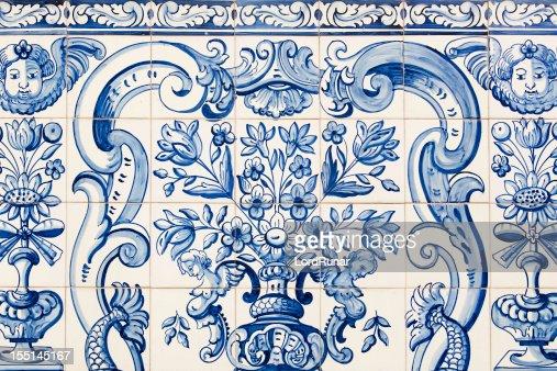 Antique tile pattern
