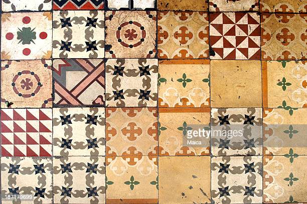 Antique tiles floor