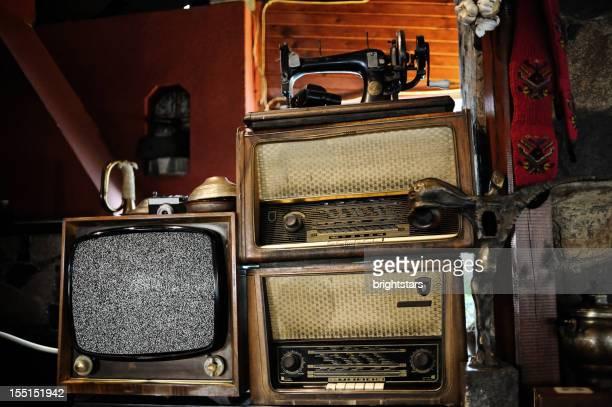 Antique TV and radios