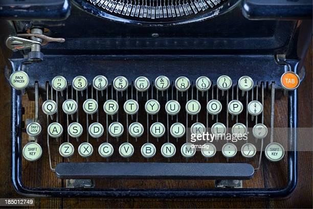 Anticuario teclado de máquina de escribir