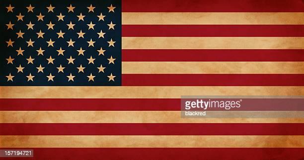 Antique USA Flag
