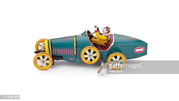 Antique wind up tin car