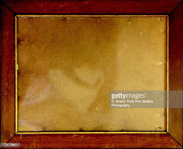 Antique wooden photo frame border