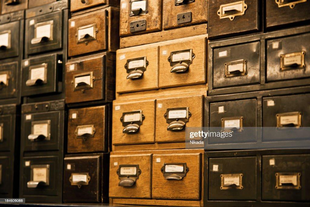 Antique Wooden Storage Boxes : Stock Photo