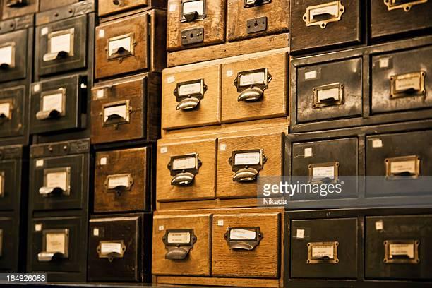 Antique wooden storage boxes