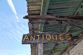 Antiques store sign, California