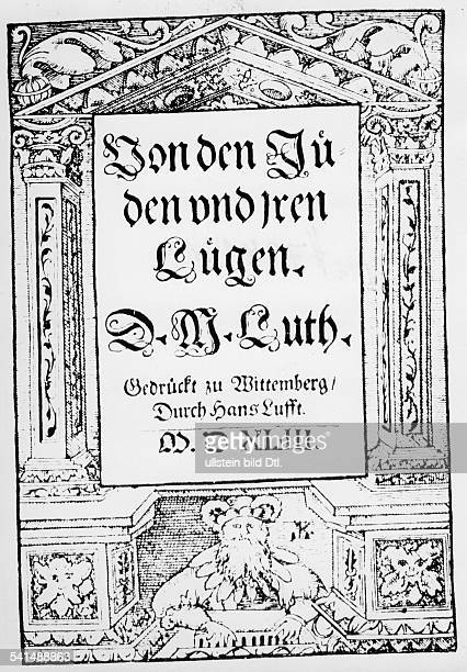 luther anti semitism What is the protestants' view of martin luther's but all of luther's ideas were shaped by anti-semitism of the twentieth-century nazi form of anti-semitism.