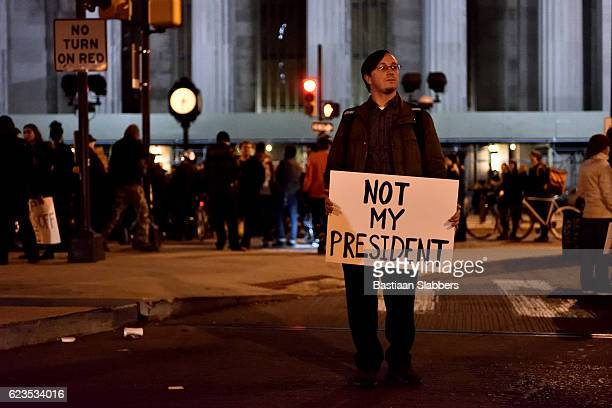 Anti-Trump Protest following U.S. Elections in Philadelphia, PA