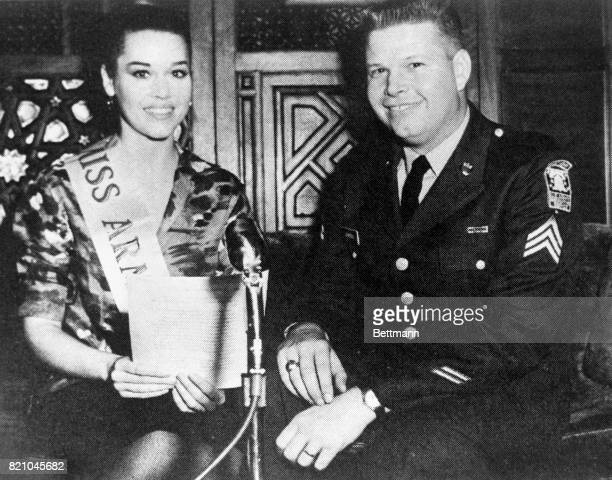 """Antiwar groups would be hard put to recognize one of their most staunch advocates who is shown in this 1962 Army photo when she was """"Miss Army..."""