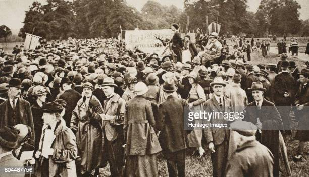 Antiwar meeting at Speakers' Corner near Marble Arch Hyde Park London c1920sc1930s