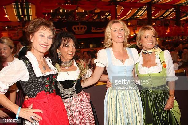 Antje Katrin Kühnemann Regine Sixt Dr Maria Furtwängler Und Uschi Glas Bei Der 'Damenwiesn' Von R Sixt Im Hippodrom Beim Oktoberfest In München