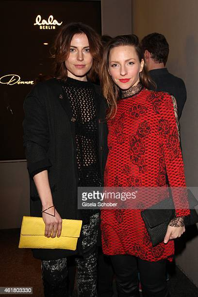 Antje Traue and Katharina Schuettler attend the LaLa Berlin Dinner with Cinderella during the MercedesBenz Fashion Week Berlin Autumn/Winter 2015/16...