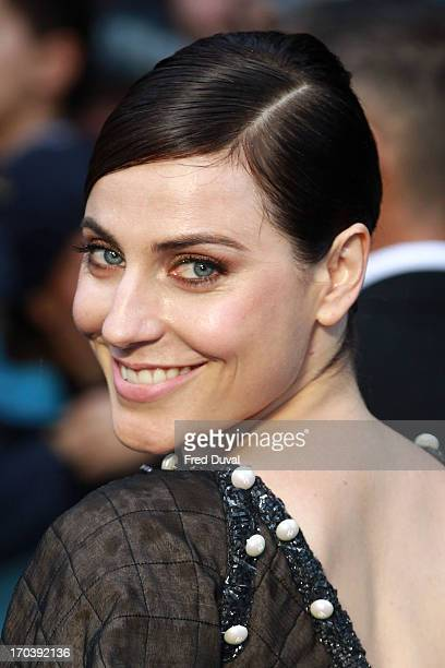 Antje Traue attends the UK film premiere of 'Man of Steel' at Odeon Leicester Square on June 12 2013 in London England