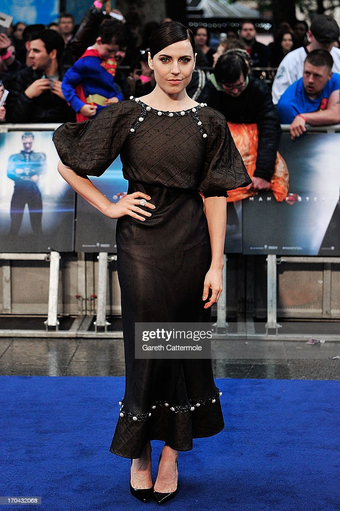 Antje Traue attends the UK Premiere of 'Man of Steel' at Odeon Leicester Square on June 12, 2013 in London, England.