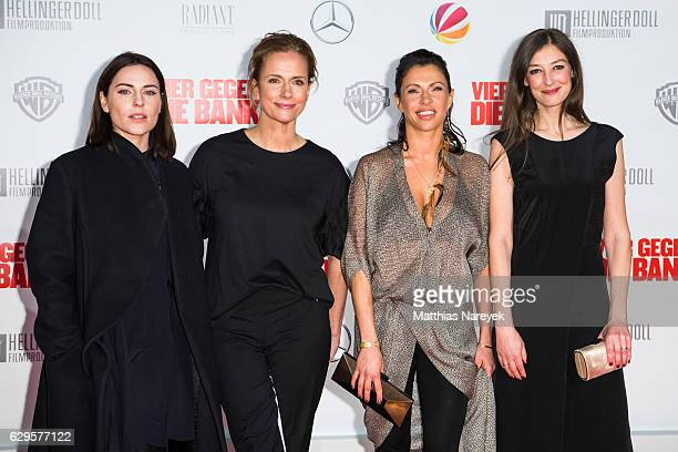 Antje Traue Claudia Michelsen Jana Pallaske and Alexandra Maria Lara attend the German premiere of the film 'Vier gegen die Bank' at CineStar on...