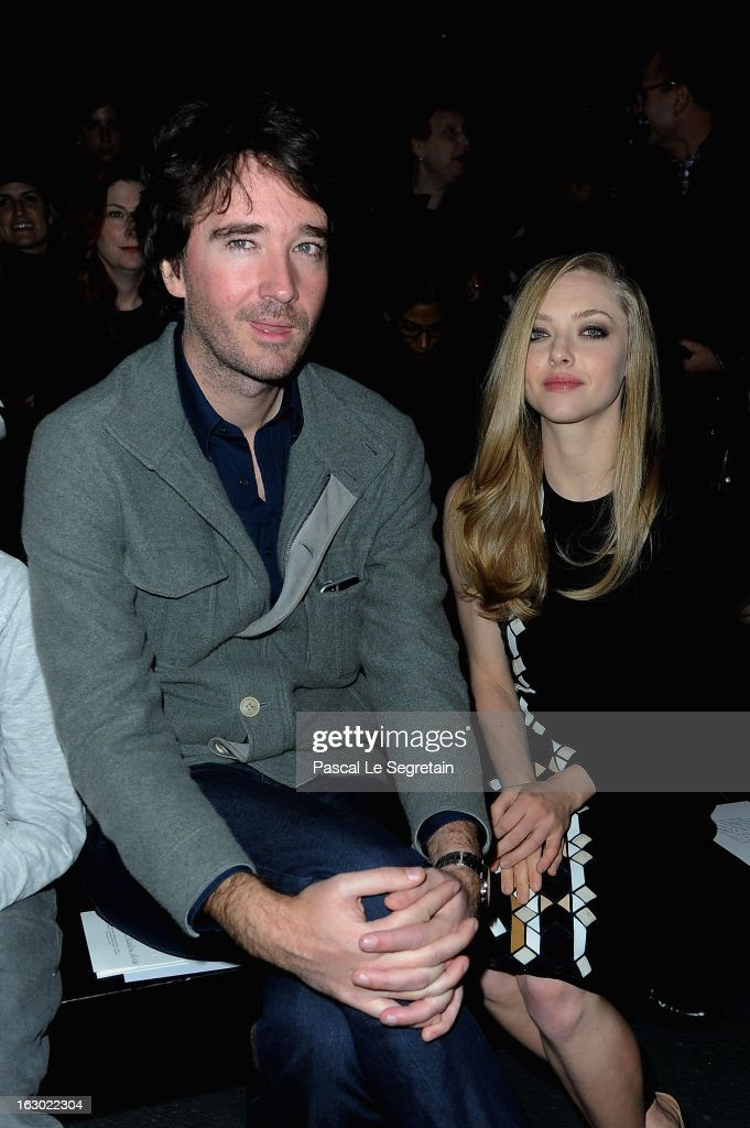 Antoine Arnault and Amanda Seyfried attend the Givenchy Fall/Winter 2013 Ready-to-Wear show as part of Paris Fashion Week on March 3, 2013 in Paris, France.