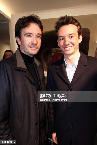 Antoine Arnault and Frederic Arnault attend the Opening of the Boutique Rimowa 73 Rue du Faubourg Saint Honore in Paris on March 6 2017 in Paris...
