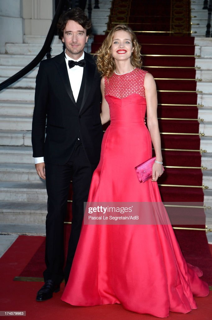 Antoine Arnault and Natalia Vodianova arrive at 'Love Ball' hosted by Natalia Vodianova in support of The Naked Heart Foundation at Opera Garnier on July 27, 2013 in Monaco, Monaco.