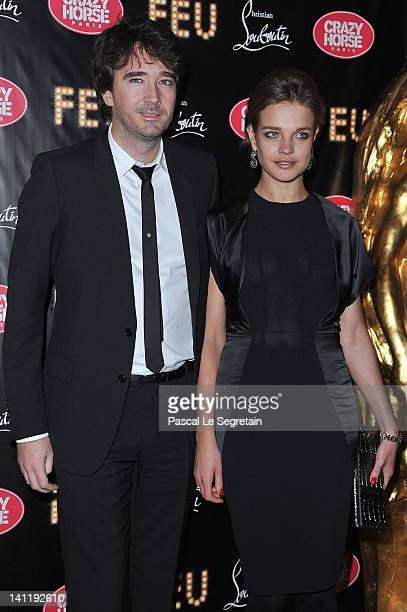 Antoine Arnault and Natalia Vodianova attend 'Feu' Directed By Christian Louboutin VIP Premiere at Le Crazy Horse on March 12 2012 in Paris France