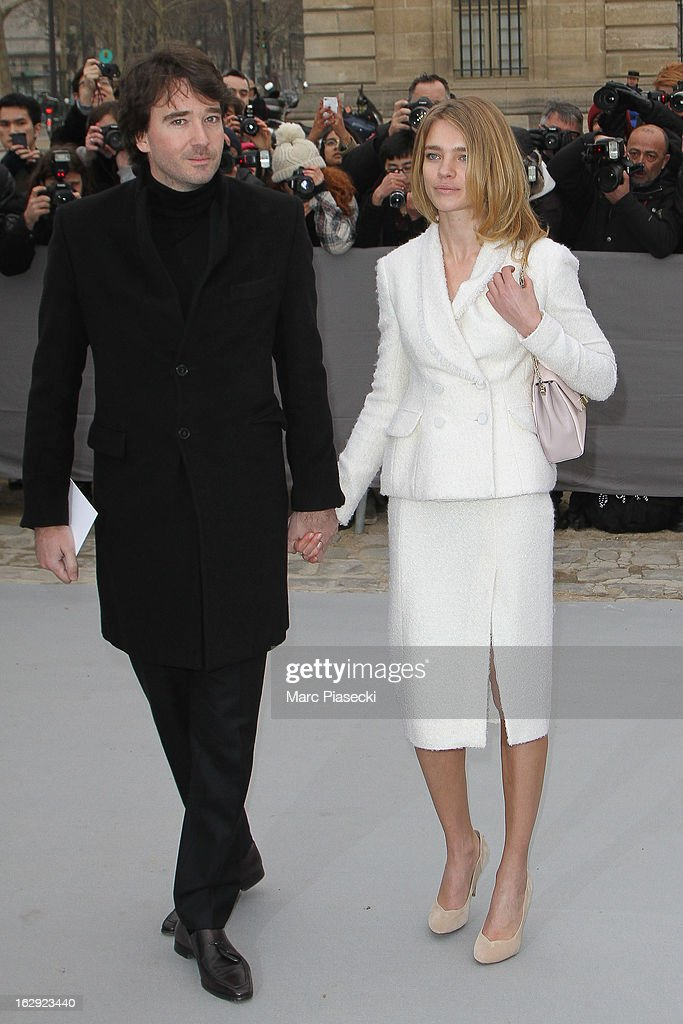 Antoine Arnault and Natalia Vodianova attend the 'Christian Dior' Fall/Winter 2013 Ready-to-Wear show as part of Paris Fashion Week on March 1, 2013 in Paris, France.