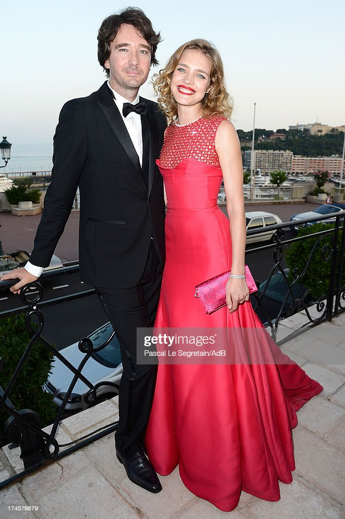 Antoine Arnault and Natalia Vodianova attend the cocktail at the 'Love Ball' hosted by Natalia Vodianova in support of The Naked Heart Foundation at Opera Garnier on July 27, 2013 in Monaco, Monaco.