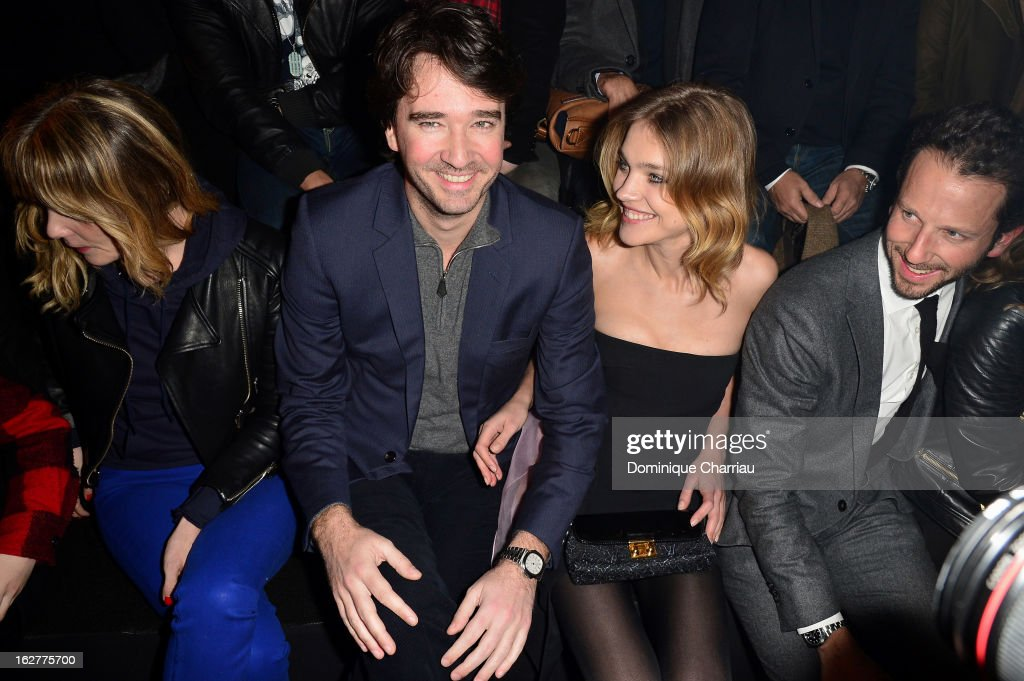 Antoine Arnault and Natalia Vodianova attend the Etam Live Show Lingerie at Bourse du Commerce on February 26, 2013 in Paris, France.